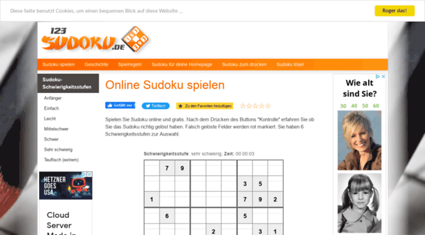 123sudoku De Sudoku Online Kostenlos Sudo 123sudoku