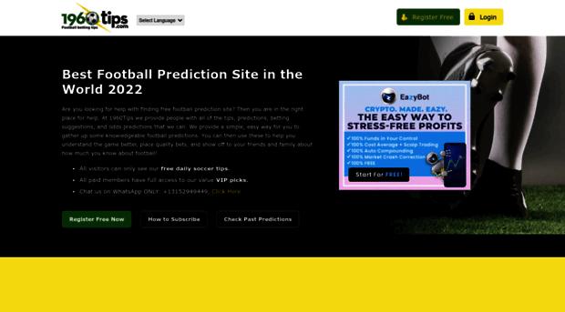1960tips com - Free Football Prediction Tips     - 1960 Tips