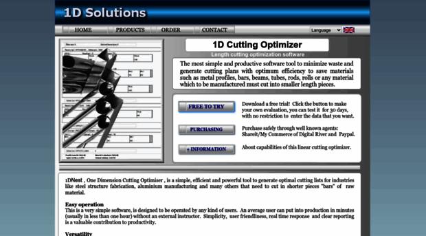 1d-solutions com - 1D Cutting Optimizer Software,    - 1D