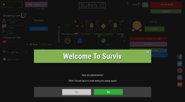 2dbattleroyale com surviv io - 2d battle royale game