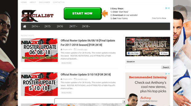 2kspecialist com - NBA 2K Updates, Roster Update, Cyberface, Etc