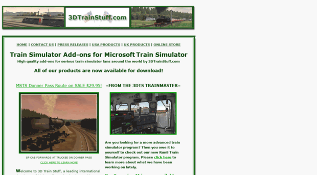 3dtrainstuff com Train Simulator Add-ons for Microsoft Train Simulator