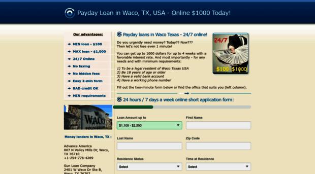 Payday loans waco texas