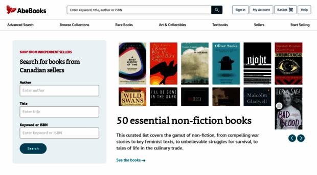 abebooks ca - AbeBooks Canada | Shop for Boo    - Abe Books