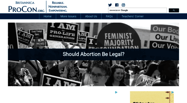 pros and cons on abortion debate