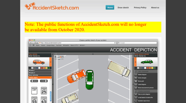 accidentsketch.com - Draw the diagram of your accid... - Accident Sketch