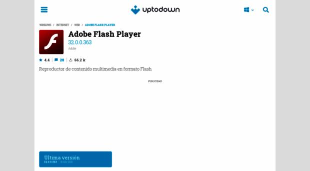 adobe-flash-player uptodown com - Descargar adobe flash player