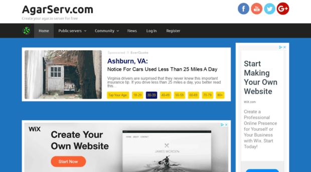 agarserv com create your agar io server for free