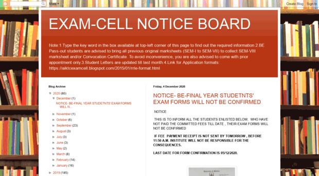 aiktcexamcell blogspot in - EXAM-CELL NOTICE BOARD - Aiktc