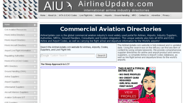 airlineupdate com - Airline & Airport Product & Se