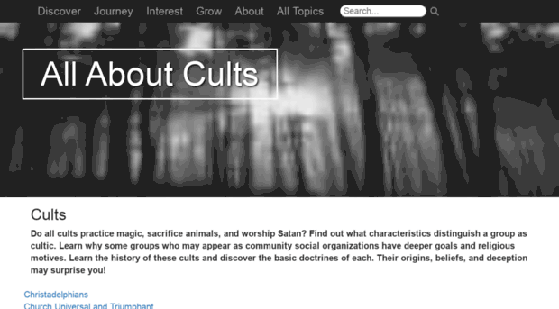 what distinguishes cults from religions