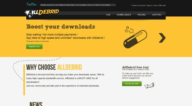 alld io - AllDebrid: Premium link genera    - Alld