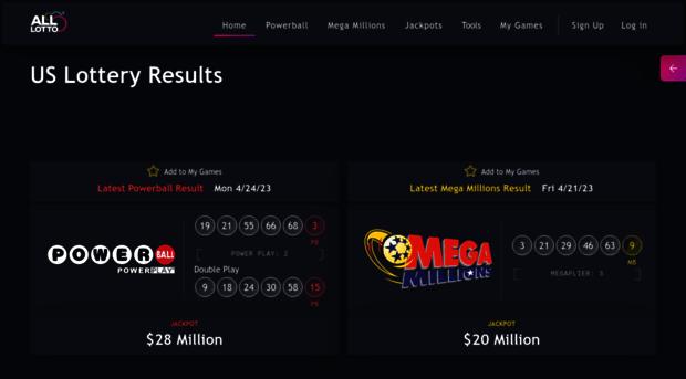 alllotto com - Powerball, Mega Millions and o    - Alllotto