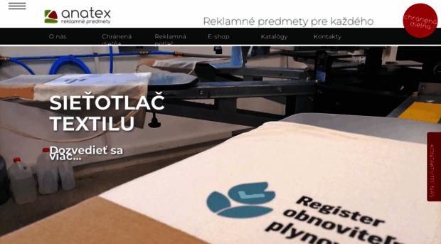 anatex.sk - Anatex - reklamné predmety - Anatex 74e96e73bed