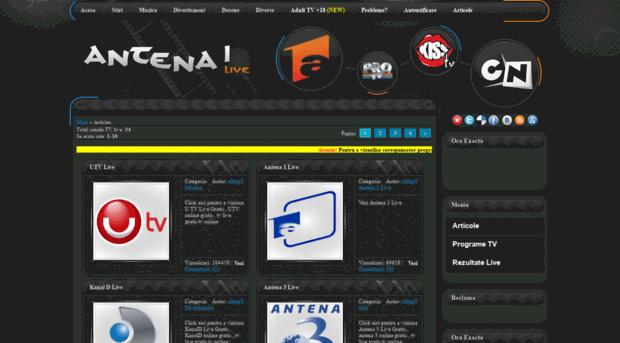 antena1live do am - tv online , Canale tv live gra
