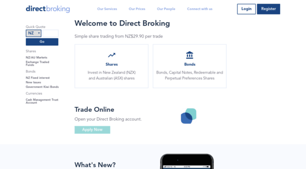 New online trading site nz