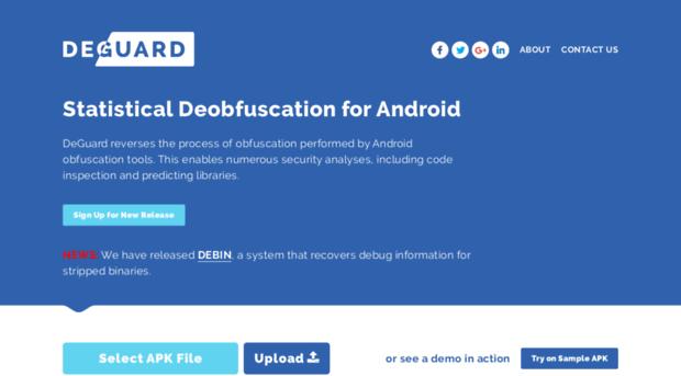 apk-deguard com - DeGuard | Statistical Deobfusc    - Apk De Guard