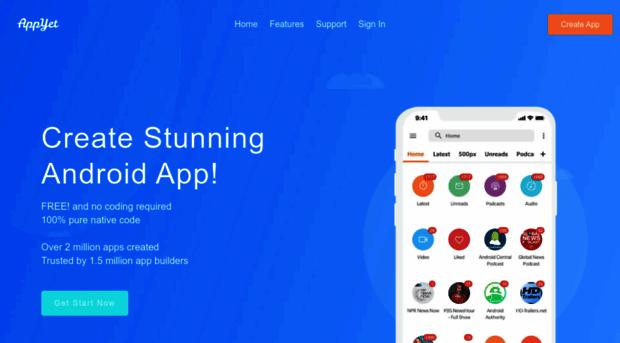 Appyet Com Appyet App Creator Create Android App Free