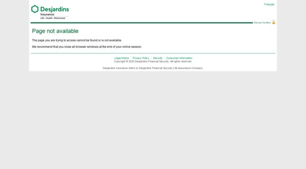 Desjardins business model verification login