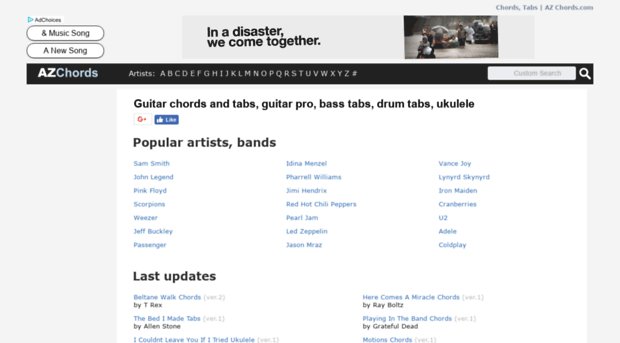 azchords.com - GUITAR TABS & CHORDS | AZ Chor... - AZ Chords