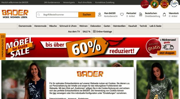 Versandhaus BADER | Ihre Onlin BADER