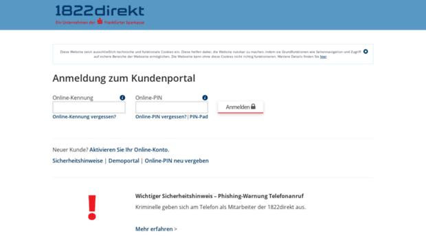 1822direkt online banking