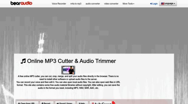 bearaudiotool com - MP3 Cutter, Ringtone Maker - Online Edit
