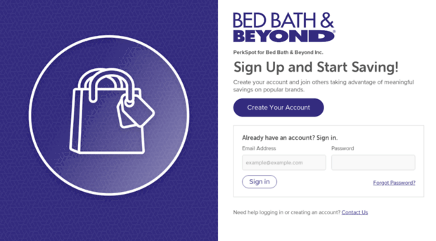 Bed Bath Perkspot