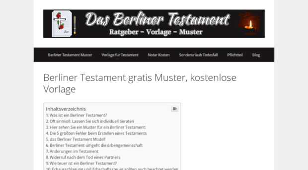 berliner testament muster pdf file - Berliner Testament Muster