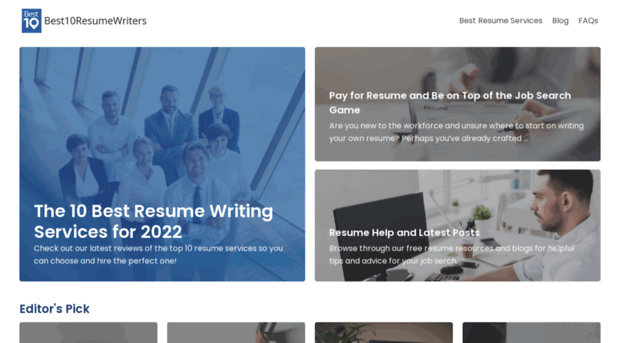 top 10 best resume writing services