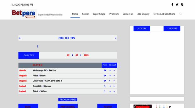 betpera com - Betpera: Football prediction s    - Betpera