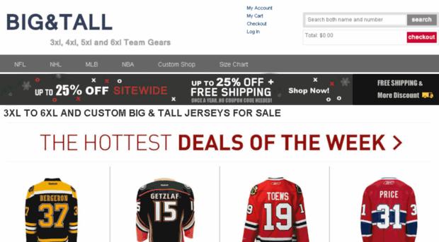 outlet store 4fbac 8999c bigtallgear.com - Big And Tall Jerseys Shop, NFL... - Big ...