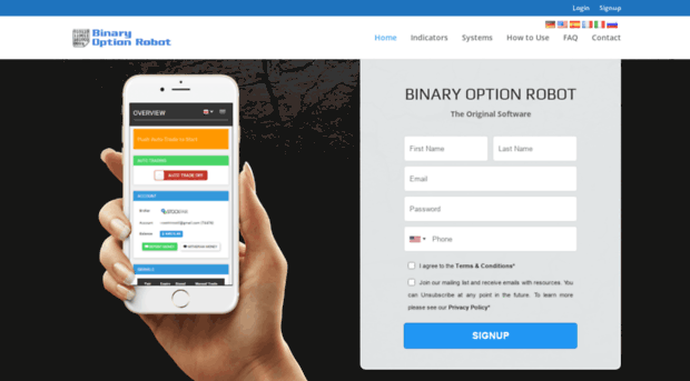 Trade binary options automatically