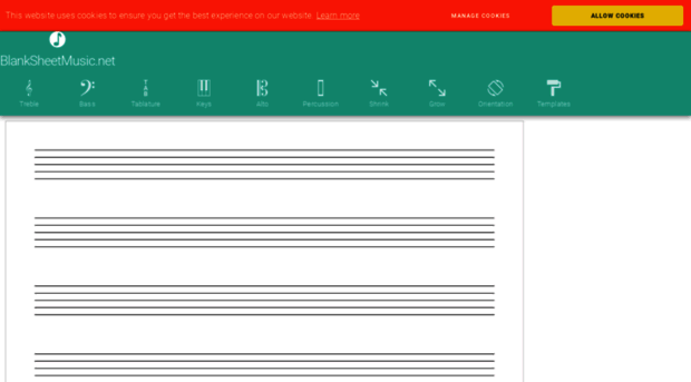 blank percussion sheet music pdf