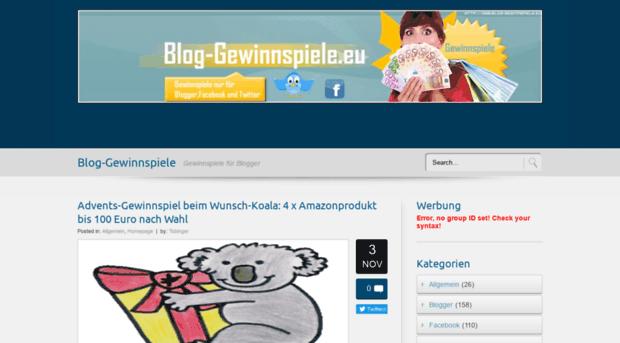 blog gewinnspiel