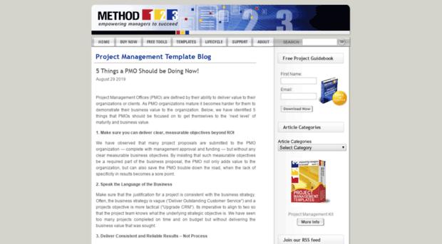 Method123 project management templates