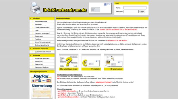 Briefdruckzentrumde Briefdruckzentrum Das Online