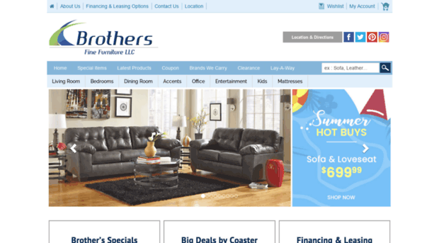 Brothersfinefurniture.com   Find Brand Name Furniture At F...    Brothersfine Furniture