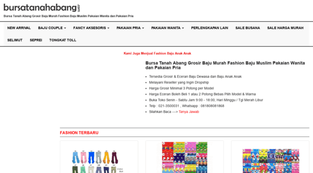 bursatanahabang.com - Bursa Tanah Abang Grosir Baju ... - Bursa ... 4569c5414b