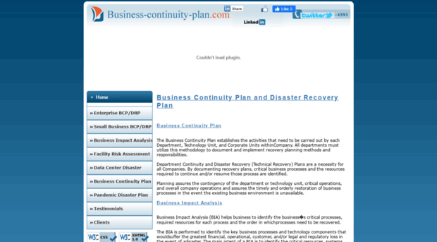 Business continuity plan risk assessment
