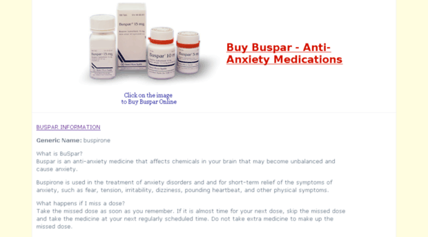 Buspar price germany! Purchasing Buspar with next day delivery