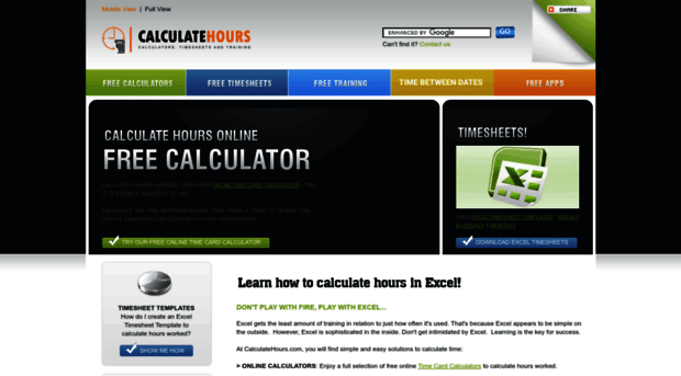 calculatehours com free online time card calculat calculate hours