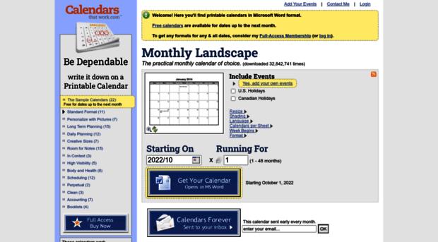 calendarsthatwork.com - CalendarsThatWork.com - Be Dep ...