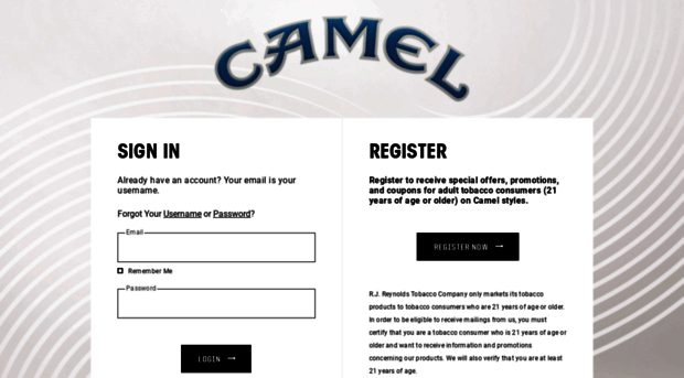 picture about Printable Camel Cigarette Coupons known as  Camel Cigarettes Formal World wide web