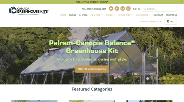 canada-greenhouse-kits com - Rion Greenhouse Kits Canada