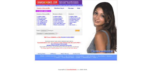 canadian dating for free Best of all, you pay no money whatsoever at the free canadian dating site, it really is totally free for everything this dating community is ad supported.