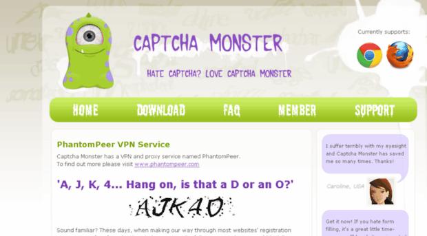 captchamonster com - Captcha Monster - CAPTCHA solv    - Captcha Monster