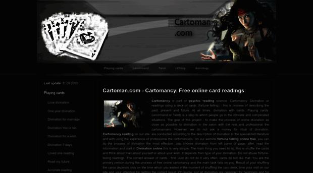 cartoman com Free online cartomancy reading by Cartoman com