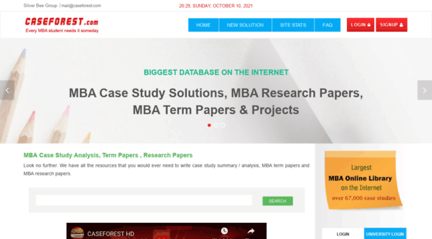 mba papers