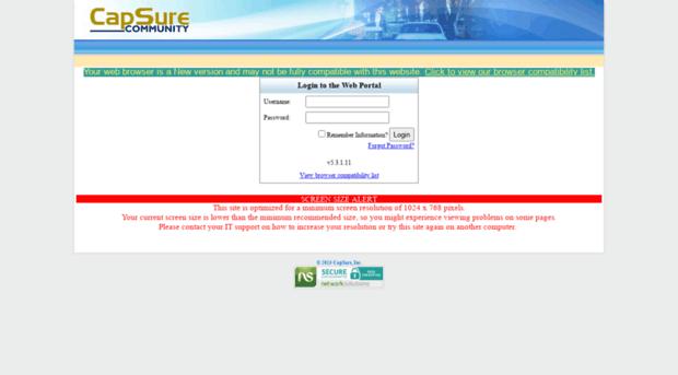 castlepines capsure com - CapSure Web Portal - Castlepines